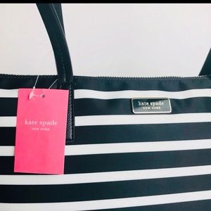 NWT Authentic Kate Spade Hayden Striped Tote
